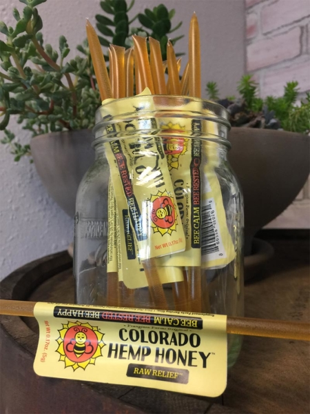 Stick of Raw Relief Full Spectrum Hemp Honey