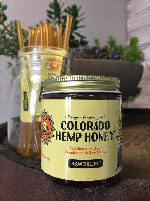 Jar of Raw Relief Full Spectrum Hemp Honey