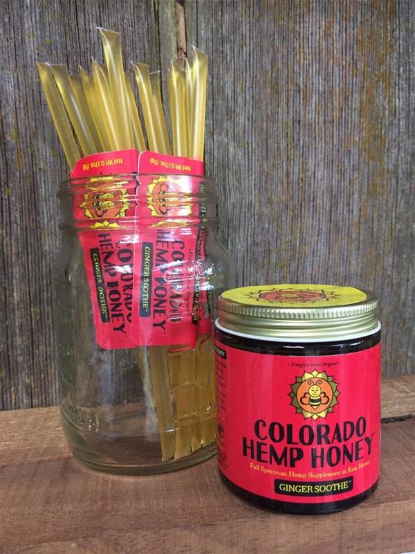 Jar of Ginger Soothe Full Spectrum Hemp Honey