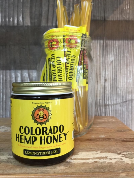 Jar of Lemon Stress Less Full Spectrum Hemp Honey