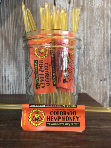 Stick of Tangerine Tranquility Full Spectrum Hemp Honey